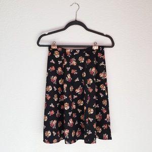 Vintage Floral High Waist Skirt